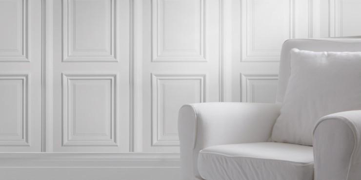 Бяла PVC ламперия